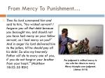from mercy to punishment
