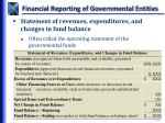 financial reporting of governmental entities2