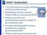 gaafr the blue book