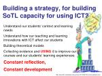 building a strategy for building sotl capacity for using ict
