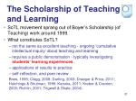 the scholarship of teaching and learning1