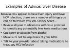 examples of advice liver disease