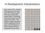 in development interpretation