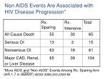 more aids and non aids events among rx sparing arm hr 1 7 in smart nejm 2006 355 2283 96