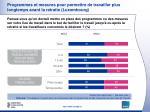 programmes et mesures pour permettre de travailler plus longtemps avant la retraite luxembourg2