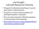 last thought culturally responsive teaching