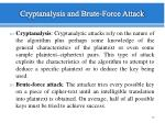 cryptanalysis and brute force attack