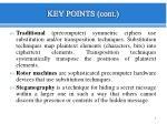 key points cont