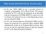 the data encryption standard