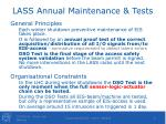 lass annual maintenance tests