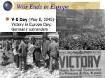 war ends in europe