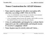 nonce construction for aead schemes