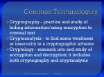 common terminologies
