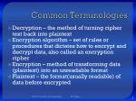 common terminologies1