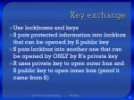 key exchange1