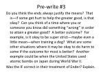 pre write 3