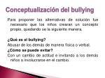 conceptualizaci n del bullying