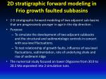 2d stratigraphic forward modeling in frio growth faulted subbasins