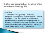 13 what was pleasant about the giving of the law on mount sinai pg 82