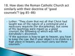 18 how does the roman catholic church act similarly with their doctrine of good counsels pg 85 86
