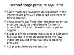 second stage pressure regulator