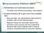 micro economic platform mep