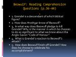 beowulf reading comprehension questions p 36 44