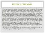 heinz s dilemma