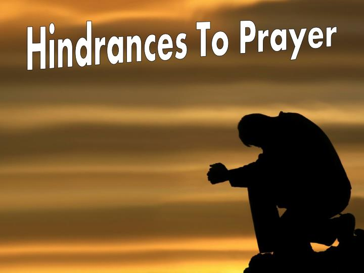 hindrances to prayer n.