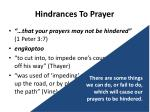 hindrances to prayer2