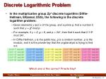 discrete logarithmic problem