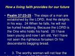 how a living faith provides for our future15