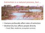 extinction is a natural process but