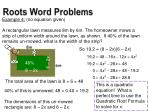 roots word problems1
