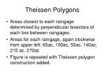 theissen polygons