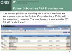 future subcontract f a encumbrances