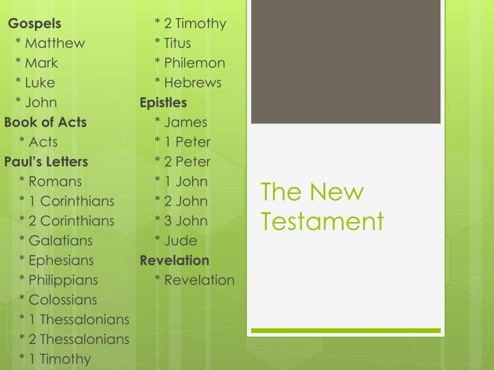 the new testament n.