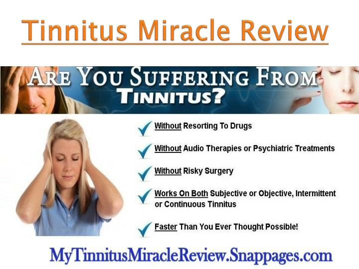 tinnitus miracle review n.