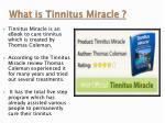 what is tinnitus miracle