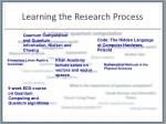 learning the research process2