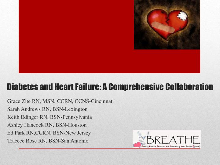 Diabetes and heart failure a comprehensive collaboration