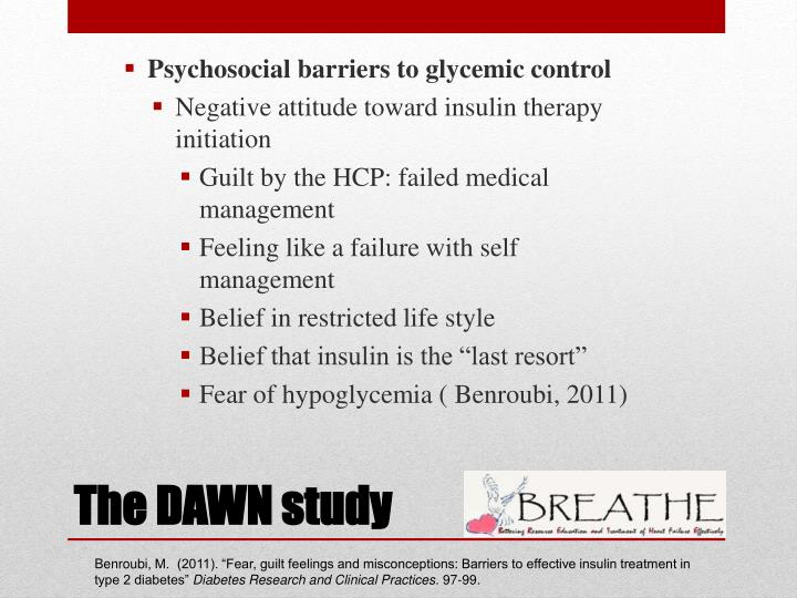 Psychosocial barriers to glycemic control