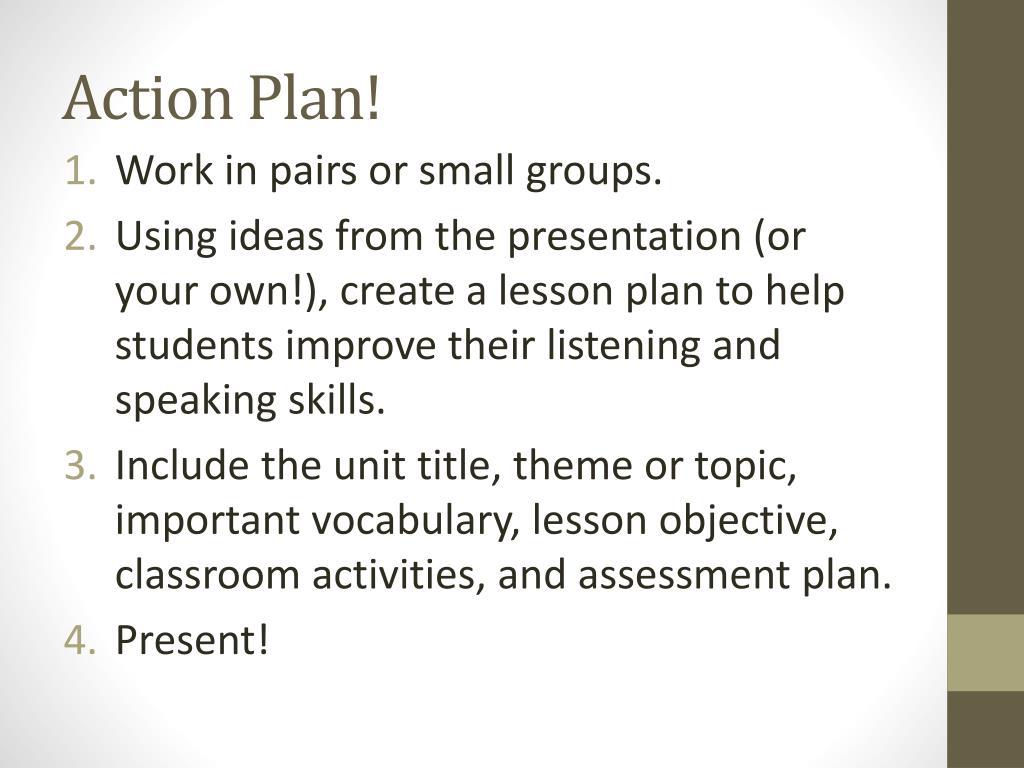 Speaking Lesson Plan