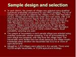 sample design and selection1