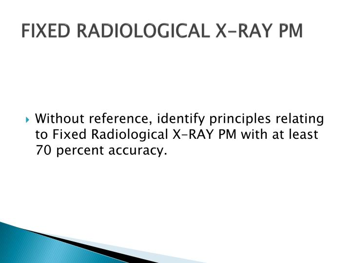 fixed radiological x ray pm n.