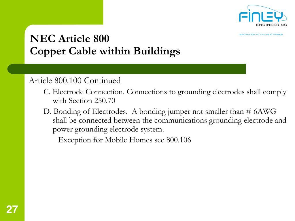 nec article 800