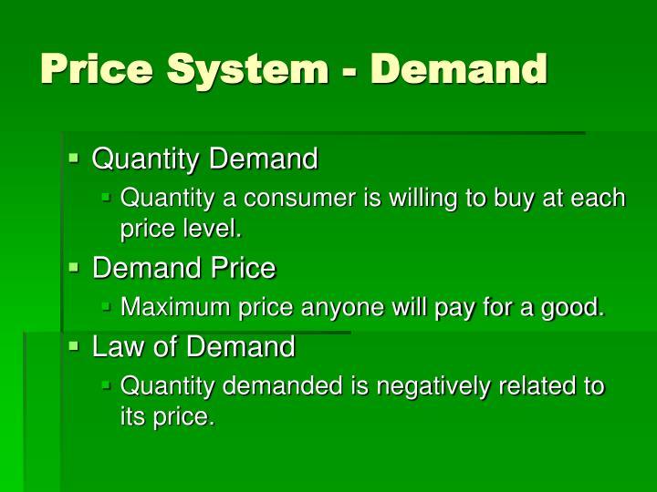 Price System - Demand