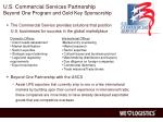 u s commercial services partnership beyond one program and gold key sponsorship