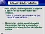 data analysis normalization