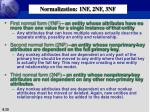 normalization 1nf 2nf 3nf